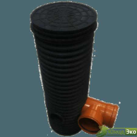 Колодец дренажный в комплекте Ø340/300 мм (дно+крышка) H 1,5 м