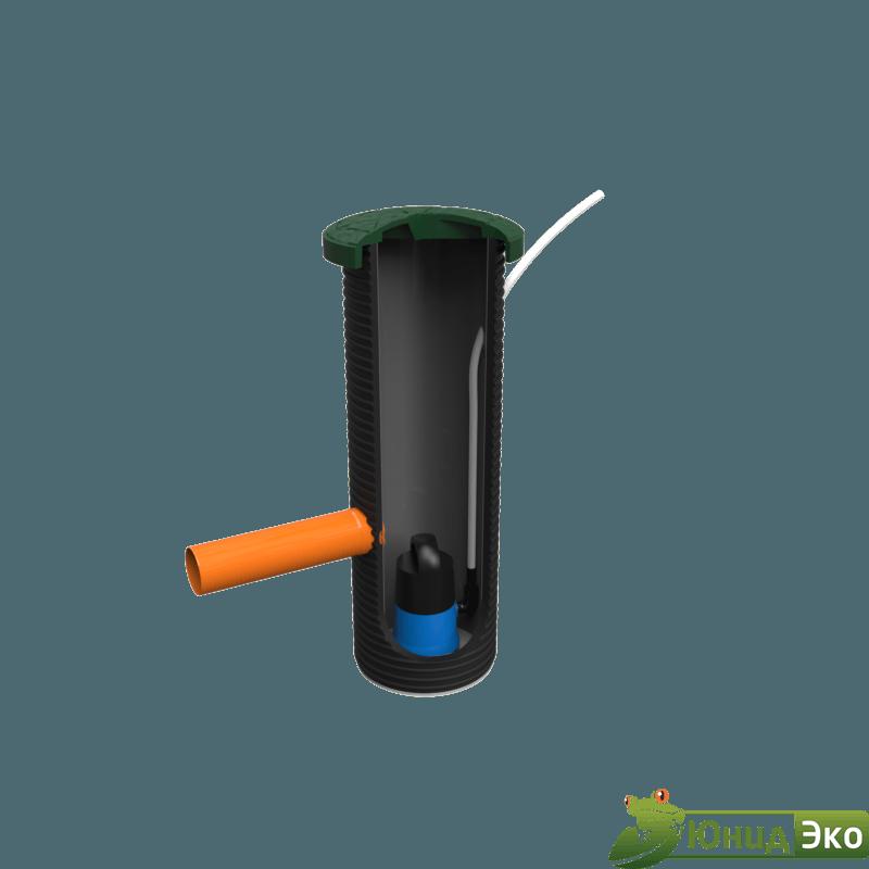 Колодец для насоса с композитной крышкой + муфта 110 мм