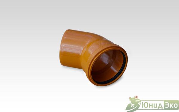 Отвод 110х45 пластик оранжевый