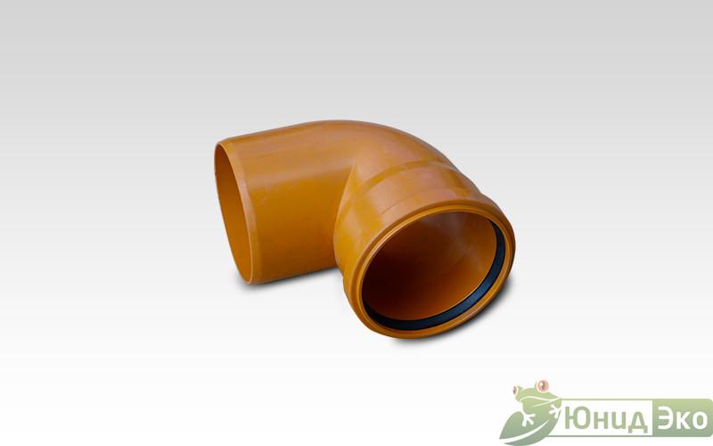 Отвод 110х90 пластик оранжевый