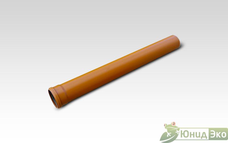 Труба пластиковая 110х3000 оранжевая