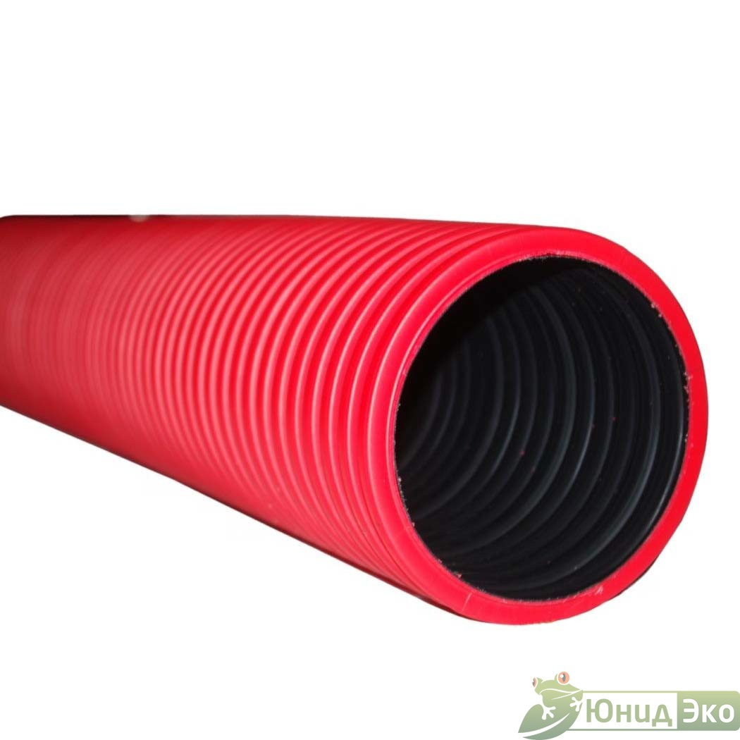 Труба гофрир. двустенная канализационная без раструба d-315/368; SN8 FD-Plast, рыжая L-6000