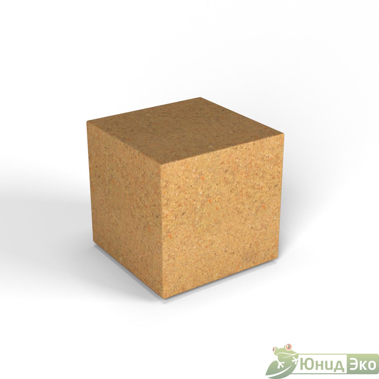 Декоративная фигура «Flox» Куб песочный гранит
