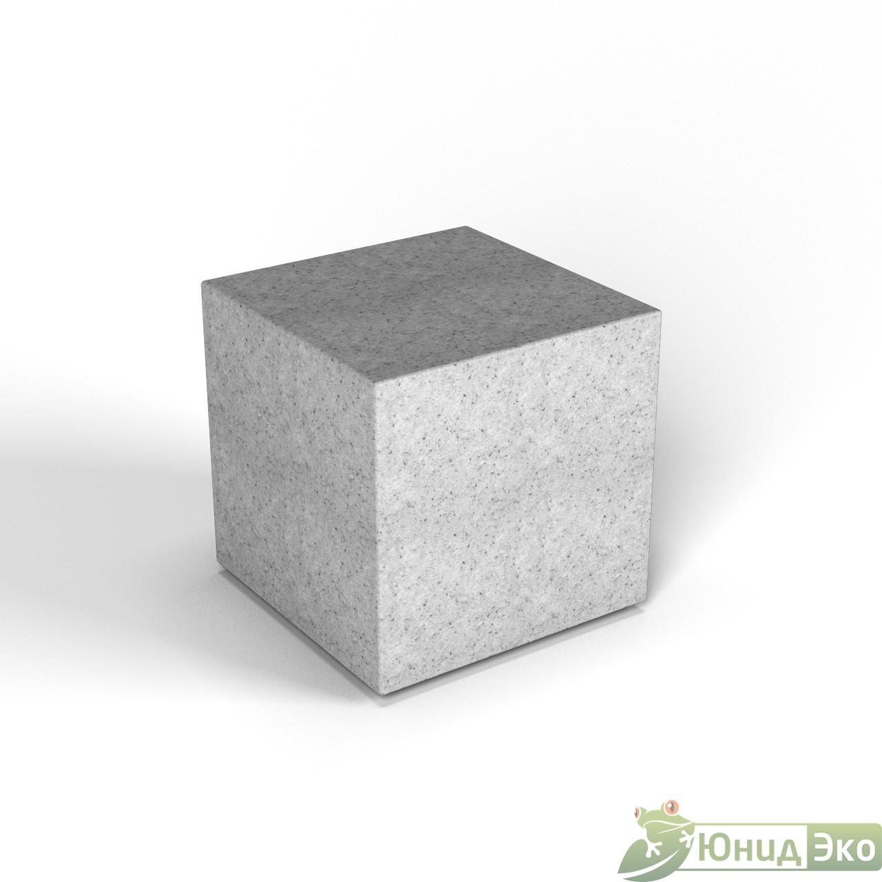 Декоративная фигура «Flox» Куб белый гранит