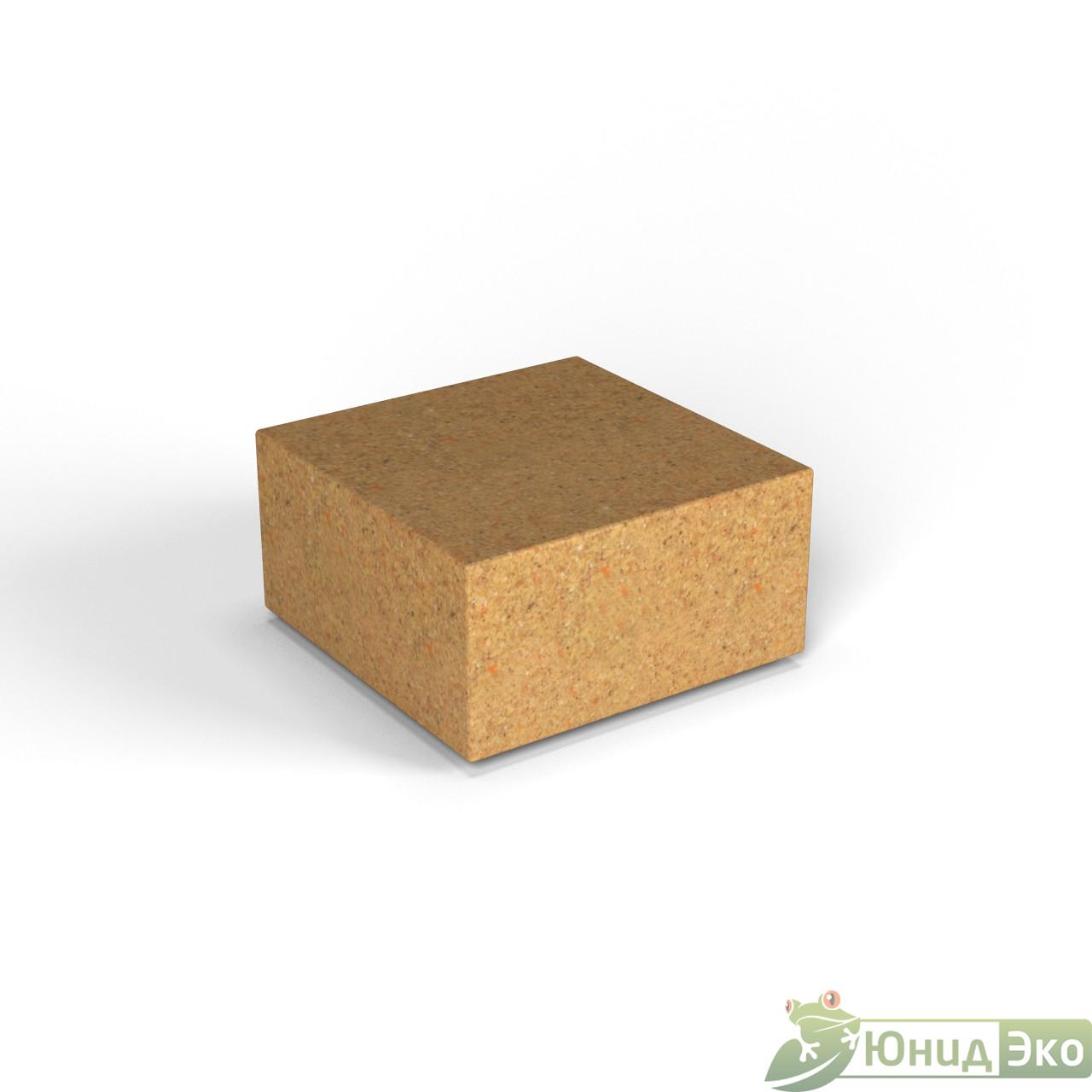 Декоративная фигура «Flox» Полукуб песочный гранит