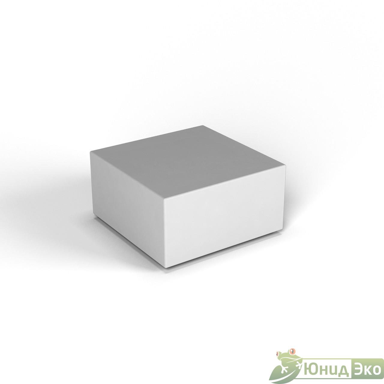 Декоративная фигура «Flox» Полукуб белый