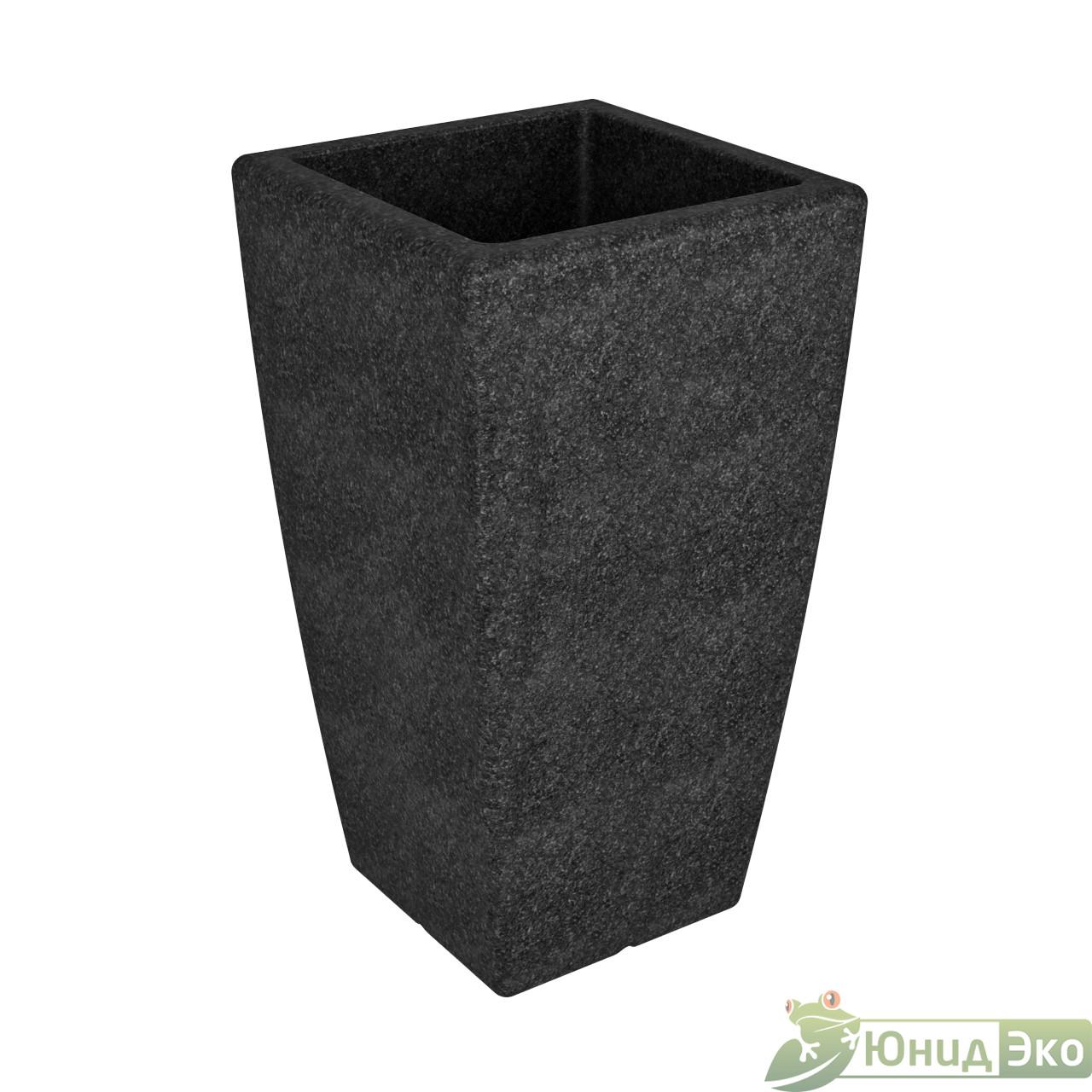 Кашпо «Flox» P 900 черный гранит