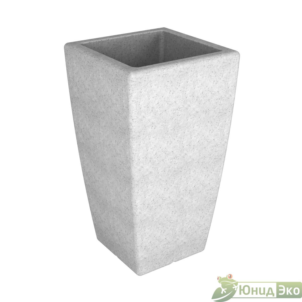 Кашпо «Flox» P 900 белый гранит