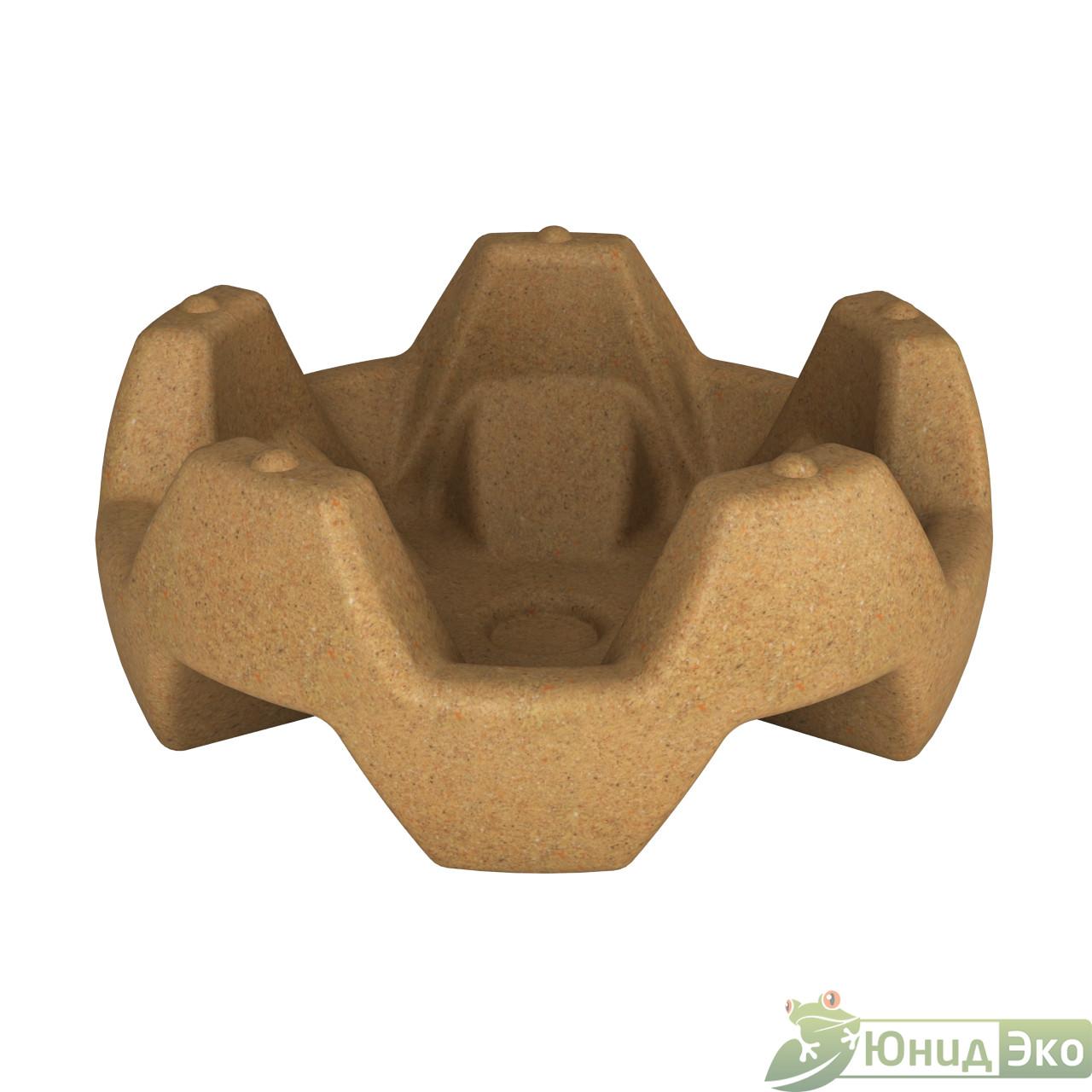 Вазон «Flox» песочный гранит