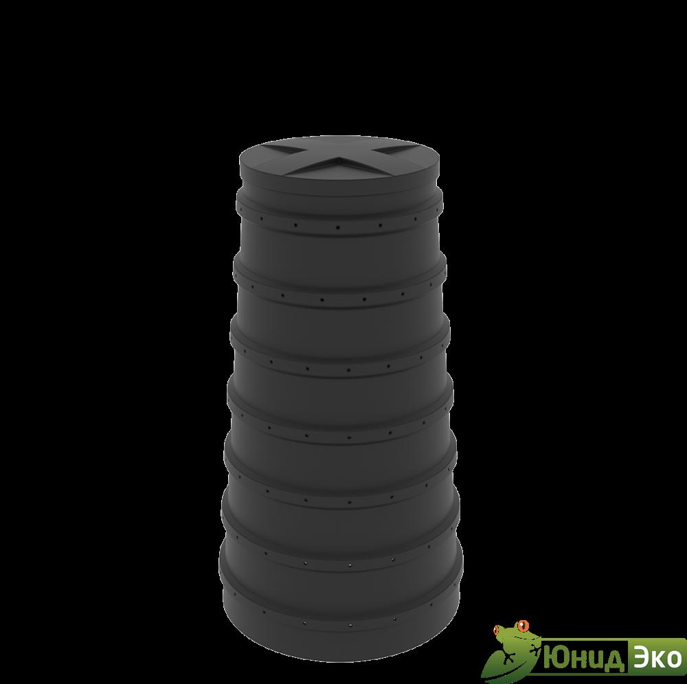 Конусный дренажный колодец литой Н1,5 метра